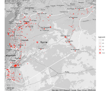 dplyr output map of Syria